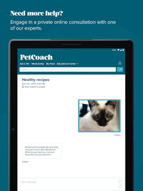Screenshot PetCoach - Ask a vet for free APK