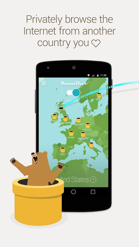 TunnelBear: Virtual Private Network & WiFi Proxy The App Store android Code Lads