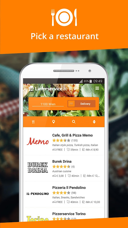 Screenshot Lieferservice.at - Order food APK