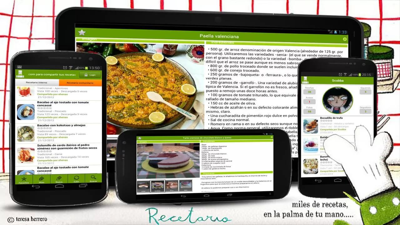 Recetario, recetas de cocina The App Store