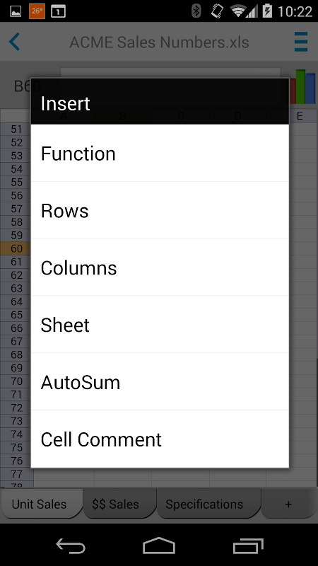 Screenshot Docs To Go™ Free Office Suite APK