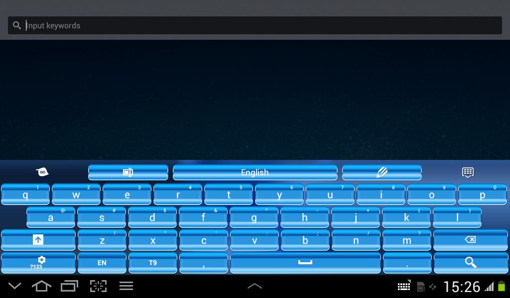 Screenshot Blue Keypad for Android APK