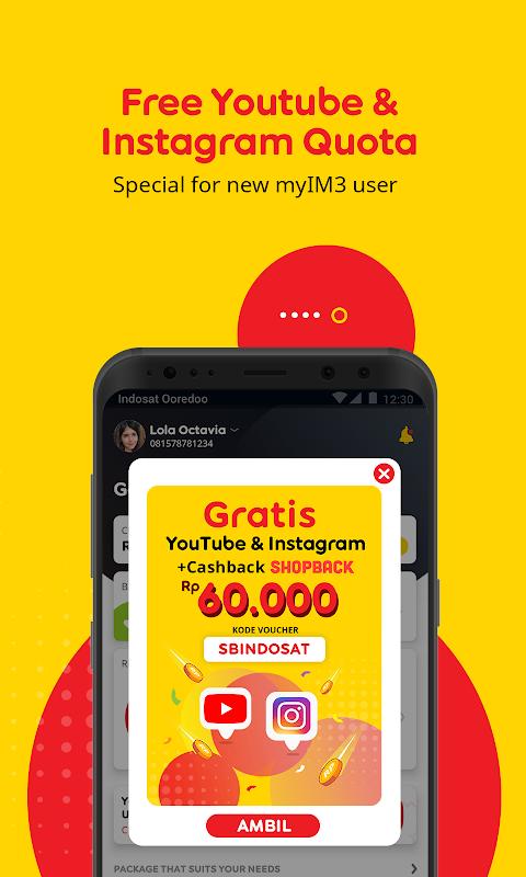 myIM3 - Cek Kuota & Beli Paket Internet The App Store android Code Lads