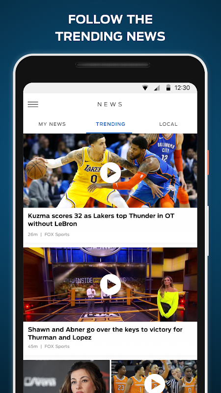 FOX Sports: Live Streaming, Scores & News The App Store android Code Lads