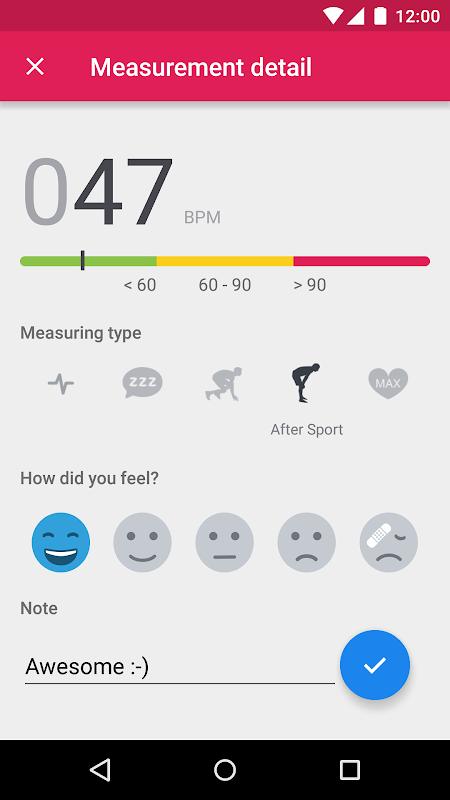Screenshot Runtastic Heart Rate Monitor APK