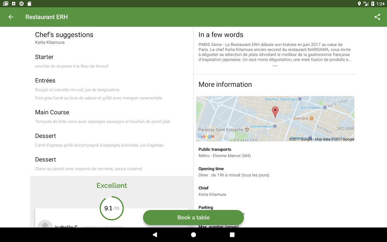 Screenshot TheFork - Restaurants booking and special offers APK
