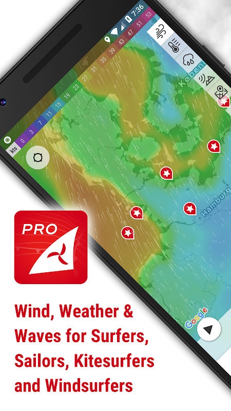 Windfinder Pro - weather & wind forecast The App Store