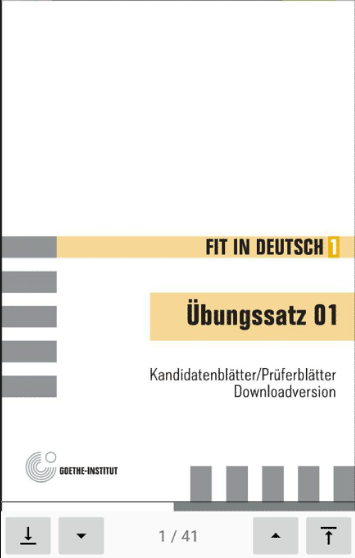 Screenshot امتحان اللغة الألمانية A1 مع الحلول APK