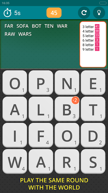 Screenshot Worgle : Real-time Word Game APK