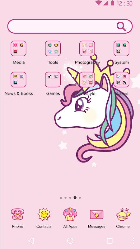 Screenshot Cartoon Theme - Cute Unicorn APK