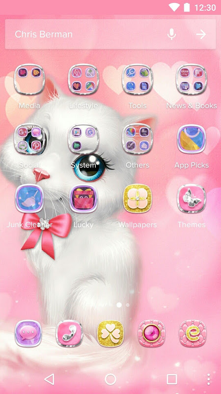 Screenshot Cartoon Theme - Pink Kitty APK