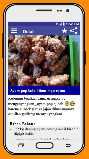 Screenshot Resep Masakan Padang APK
