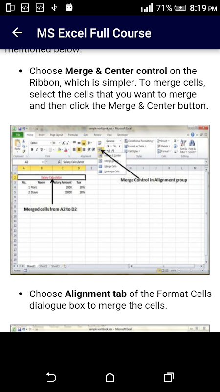 Screenshot Learn MS Excel Full Course in 15 Days APK
