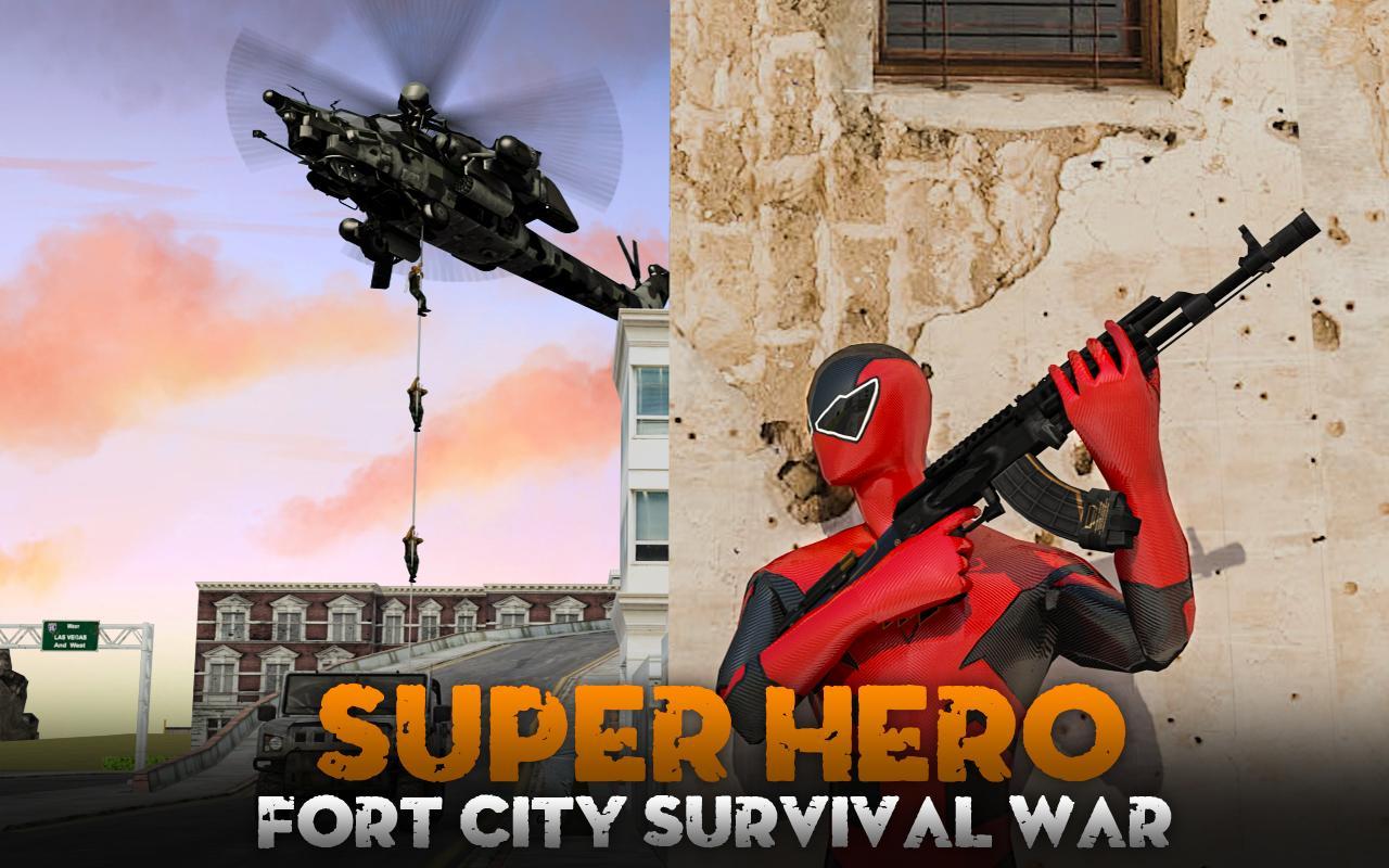 Screenshot Super Hero Fort City Survival War APK