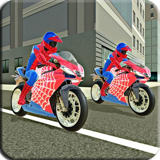 Bike Race Top Super Hero Bike Driver