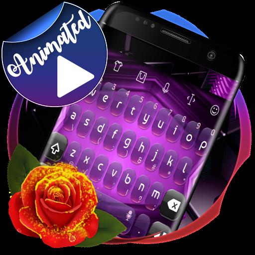 Digital Purple 3D Keyboard