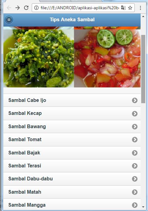 Screenshot Tips Aneka Sambal APK