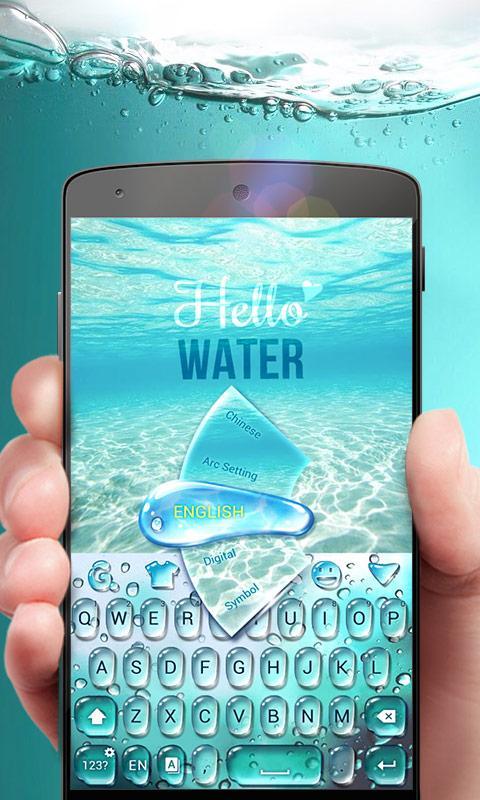 Screenshot GO Keyboard Theme Water APK