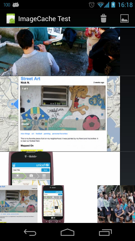 Screenshot Locast Core Android Example APK