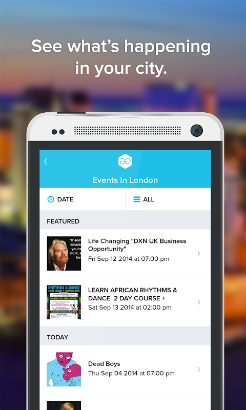 Screenshot All Events in City APK