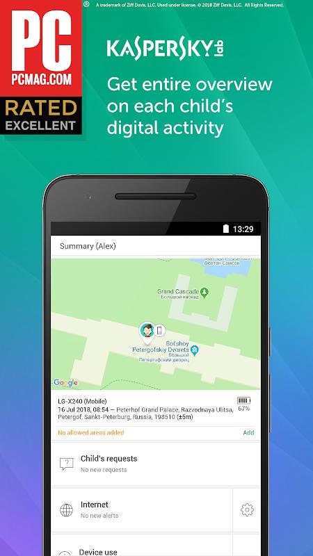 Screenshot Parental Control & Kids GPS: Kaspersky SafeKids APK