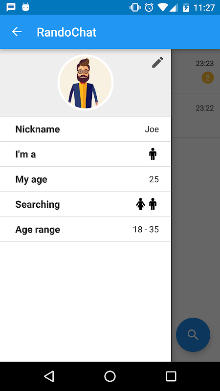 Screenshot RandoChat - Chat roulette APK
