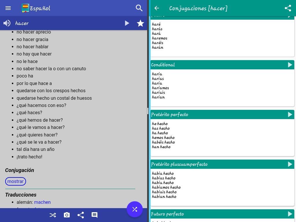 Screenshot Spanish Dictionary - Offline APK