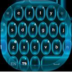 Neon Keyboard Blue Free