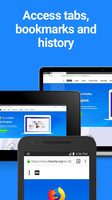 Screenshot Firefox for Android Beta APK