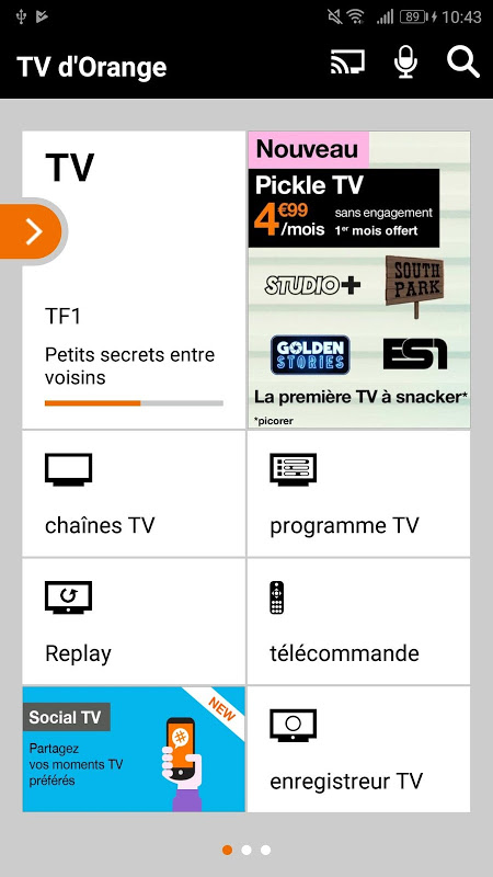 TV d'Orange, live-replay-vod The App Store android Code Lads