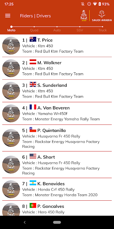 Dakar Rally 2020 The App Store android Code Lads