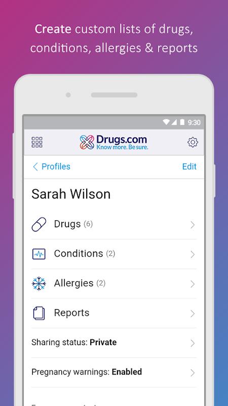 Screenshot Drugs.com Medication Guide APK