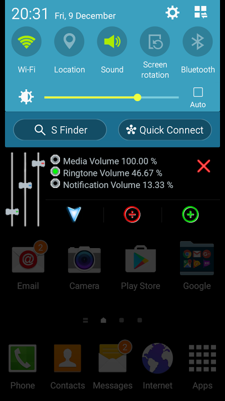 Screenshot Volume Master for Android APK