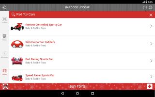 Barcode Lookup Screen