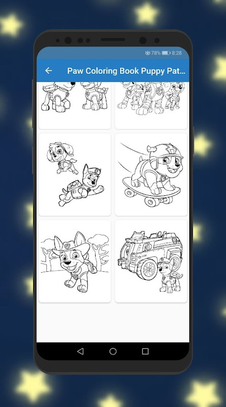 Paw Coloring Book Puppy Patrol. Fanart Cartoons