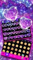 Galaxy Liquid Droplet Keyboard Theme Screen