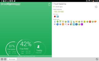Droid Optimizer Screen