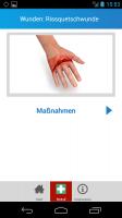 Erste Hilfe Hand Screen