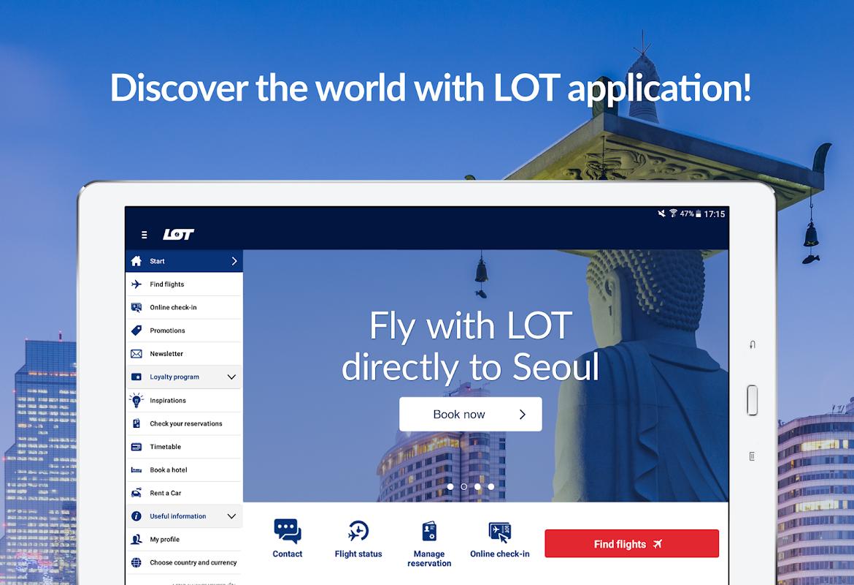 LOT - flight tickets, check-in