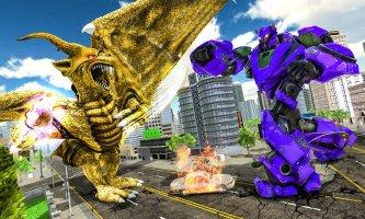 Ultimate Dragon Robot Transform Battle War Game Screen