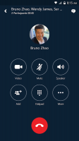 Skype for Business for Android Screen