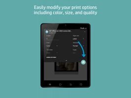 HP Print Service Plugin Screen