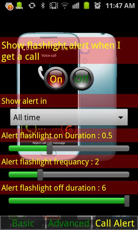 Magic Flashlight & Call Alert+