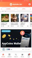 Aptoide Dev Screen