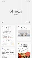 Samsung Notes Screen