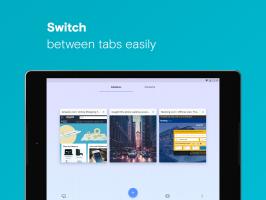 Opera browser beta Screen