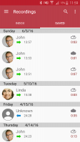 Automatic Call Recorder Screen