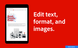 PDF Viewer, Editor & Creator by Acrobat Reader Screen