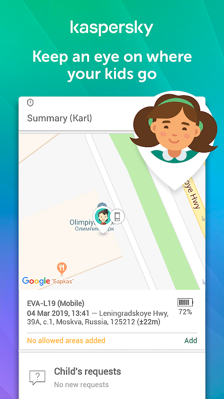 Parental Control & Kids GPS: Kaspersky SafeKids