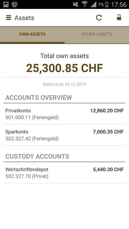 Mobile Banking Bank Zimmerberg